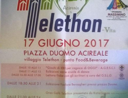 17 giugno 2017: giornata Telethon